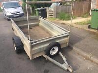 """CLH 6ft 6"""" x 4ft Galvanised trailer + spare wheel"""