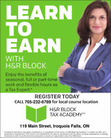 Learn to Earn with H&R Block in Cochrane and  Iroquois Falls