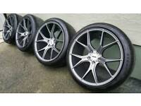 "19"" ava dallas alloy wheels and tyres seat audi a4 a6"