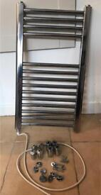 Chrome bathroom / towel radiator
