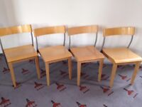 5 x IKEA Nordisk wooden office chairs - good condition.