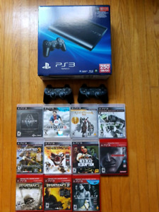 Sony PS3, Games and Two Controllers
