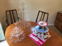 Two Cake tiered stands. From £8