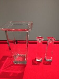 Marc Aurel Glass Vase and Candle Holders