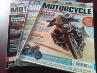 Bundle of Motorcycle Sport & Leisure Magazines April-Dec 2016