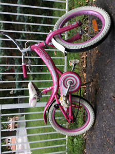 Pink girls bike 16'