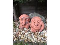 Terracotta Faces x 2