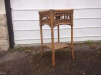 Bamboo , wicker plant stand