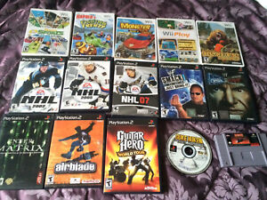 Many Wii, PS2, and PS1 Games for Sale!