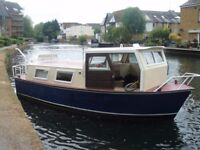 DUTCH BARGE,MID 1980,s,SOLID STEEL,RECENTLY REFURBISHED just needs interior finishing to suit you !!