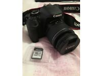 Canon EOS 600D DSLR Camera with lens and x2 16GB memory cards