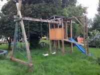Kids Climbing frame and swings and slide