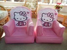 Hello Kitty Chairs x 2