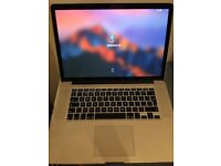 Macbook Pro Retina 15, Late 2013, 2.3GHz i7, 16GB RAM, 512GB ssd, 2GB GeForce