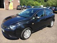 1212 Seat Ibiza 1.2TDI 75ps CR Ecomotive S Black 5 Door 44509mls £0 Road Tax