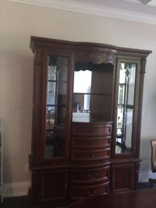 Beautiful Wood Dining Room Hutch And Buffet