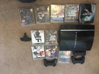 PS3 playstation with games