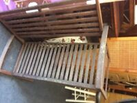 2x wooden garden benches