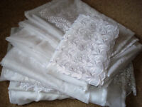 A set of Voile Curtains. Brand New. Various Widths and Lengths