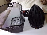 Bike basket and helmet