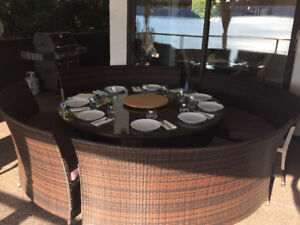 Modern outdoor dining set for 8 to 12 people