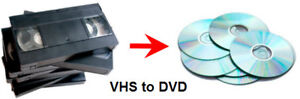 WILL CONVERT YOUR VHS TAPES ONTO DVD