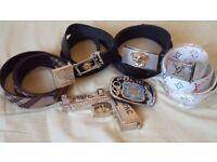 Mens Designer Versace, Burberry, Louis Vuitton. Belt Buckle Joblot/Bundle