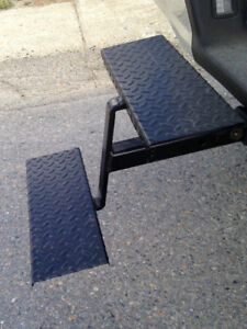 Camper steps hitch mounted