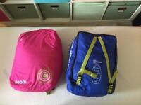 Two Hi Gear 'Boom' Children's Sleeping Pod Sleeping Bags, pink and blue, as new