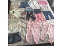 Bundle of baby girl 3-6M items