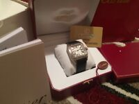 MENS CARTIER SANTOS 100 WATCH NEW WITH BOX PAPERS TAGS BAGS