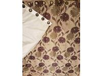 Eyelet Lined Curtains and Cushion Covers