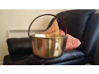 Solid brass pot