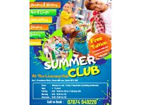 Children Summer Activity Club + Help with Reading, Writing and Spelling