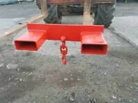 Forklift lifting jib rated to 2.5 ton tractor telehandler
