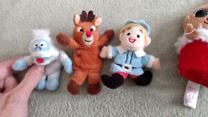 Plush Rudolph Finger Puppets/Beanie Babies