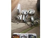 wii console and gamea