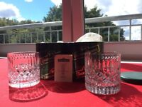 Tyrone Crystal Whisky Tumblers x2