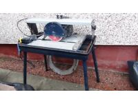 Bridge /sliding tile Saw with stand