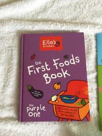 Weaning book , flask and pots Ella's Kitchen