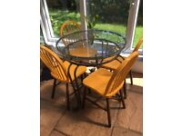 Glass and metal conservatory furniture