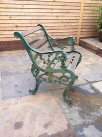 ***REDUCED 2 Antique cast iron chairs***