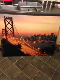VERY LARGE PRINT CANVAS, IN VERY GOOD CONDITION. BARGAIN £10.00