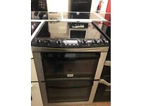 60CM STAINLESS STEEL BLACK ZANUSSI ELECTRIC COOKER