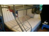 Kids metal double bunk bed