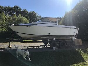 24 foot boat with trailer