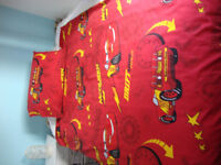 DISNEY CARS BEDSET. Red with images of the movie characters