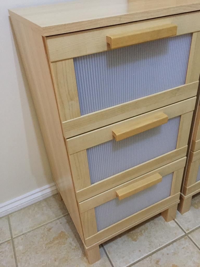 Aneboda 3 Drawer Bedside Chestsin Rayleigh, EssexGumtree - Aneboda 3 Drawer Bedside Chests. Excellent condition. We have 2 x for sale, £15 each. Collection Rayleigh SS6