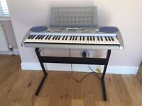 Yamaha PSR 275 keyboard, stand and stool. Perfect working order, despite a few surface scratches.