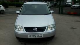 Volkswagen touran 1.9 tdi 2005 reg 7 seater